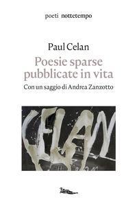 Copertina del libro Poesie sparse pubblicate in vita